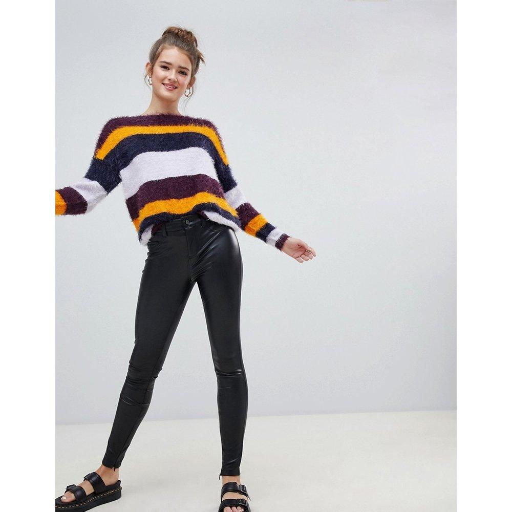 Only - Pantalon en similicuir-Noir - Only - Modalova