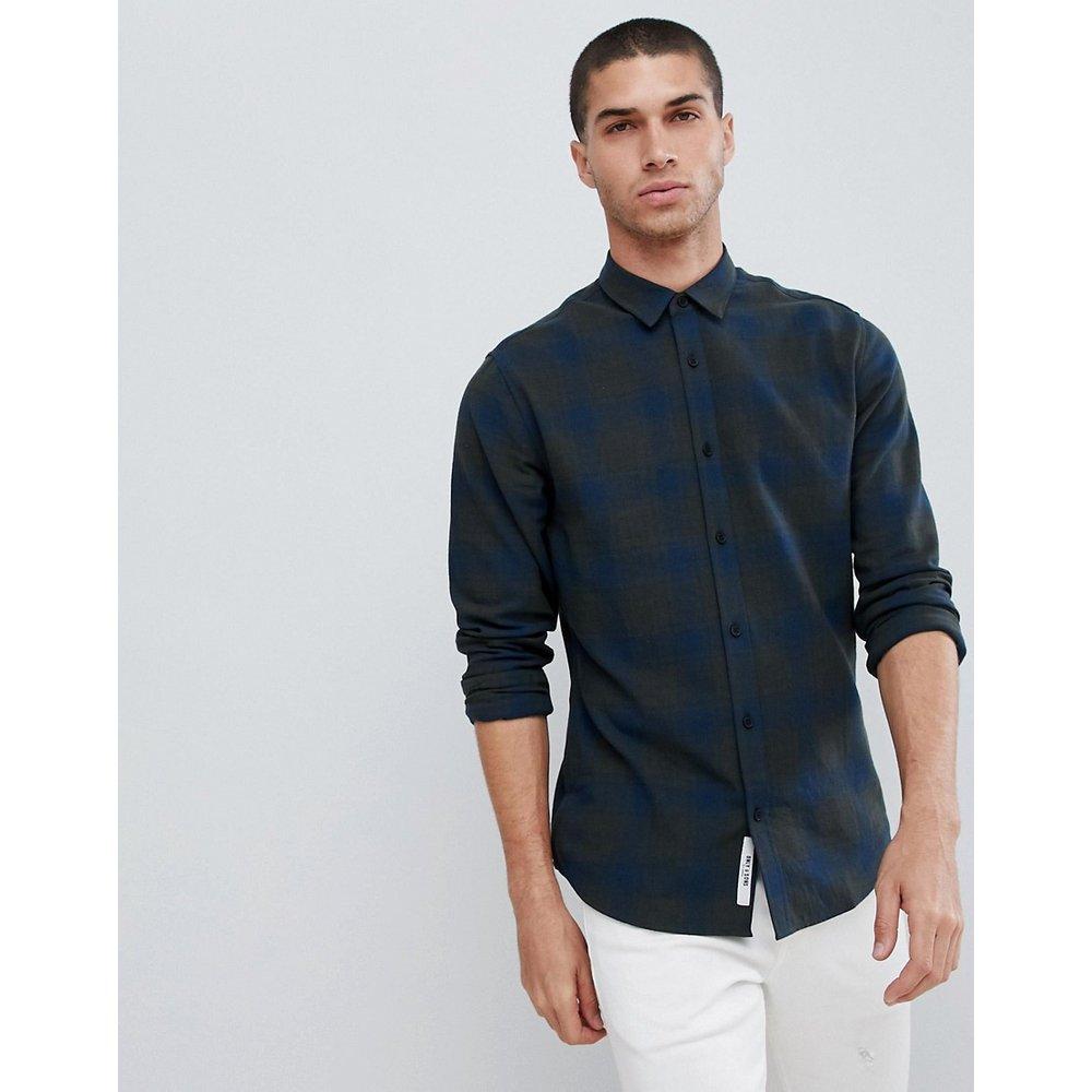 Chemise à carreaux coupe slim effet brossé - Only & Sons - Modalova