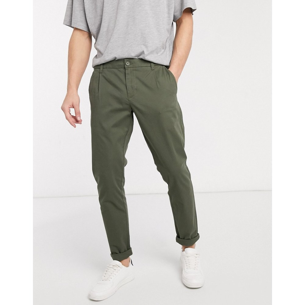 Pantalon chino coupe slim - Kaki - Only & Sons - Modalova
