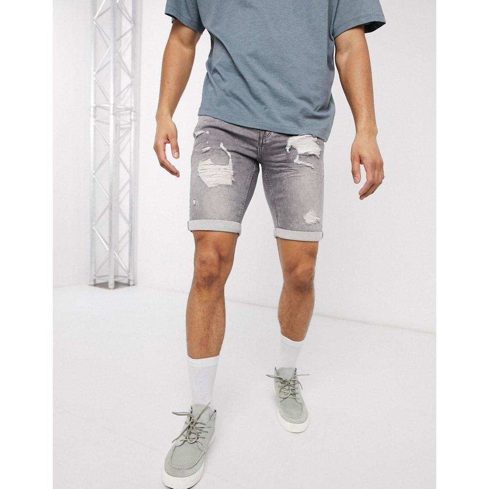 Short slim en jean vieilli - Only & Sons - Modalova