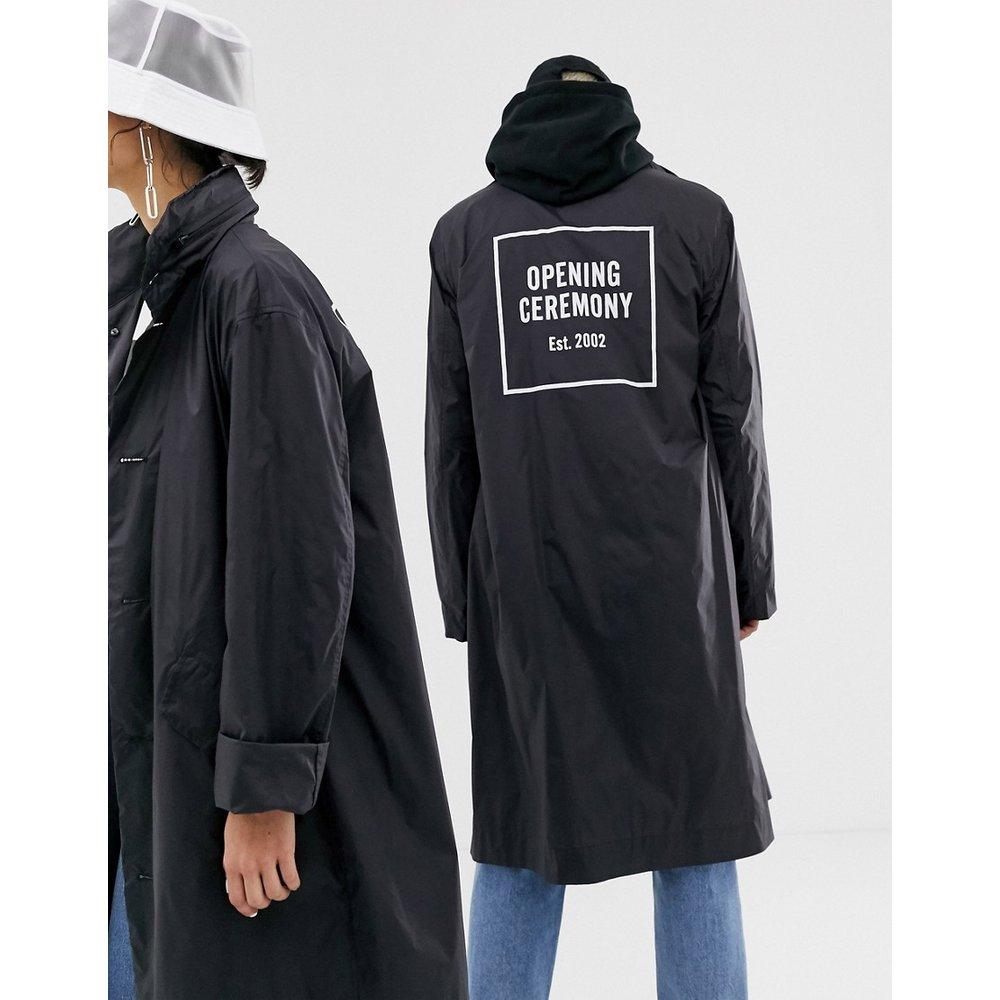 Trench coat en nylon avec logo encadré - Opening Ceremony - Modalova