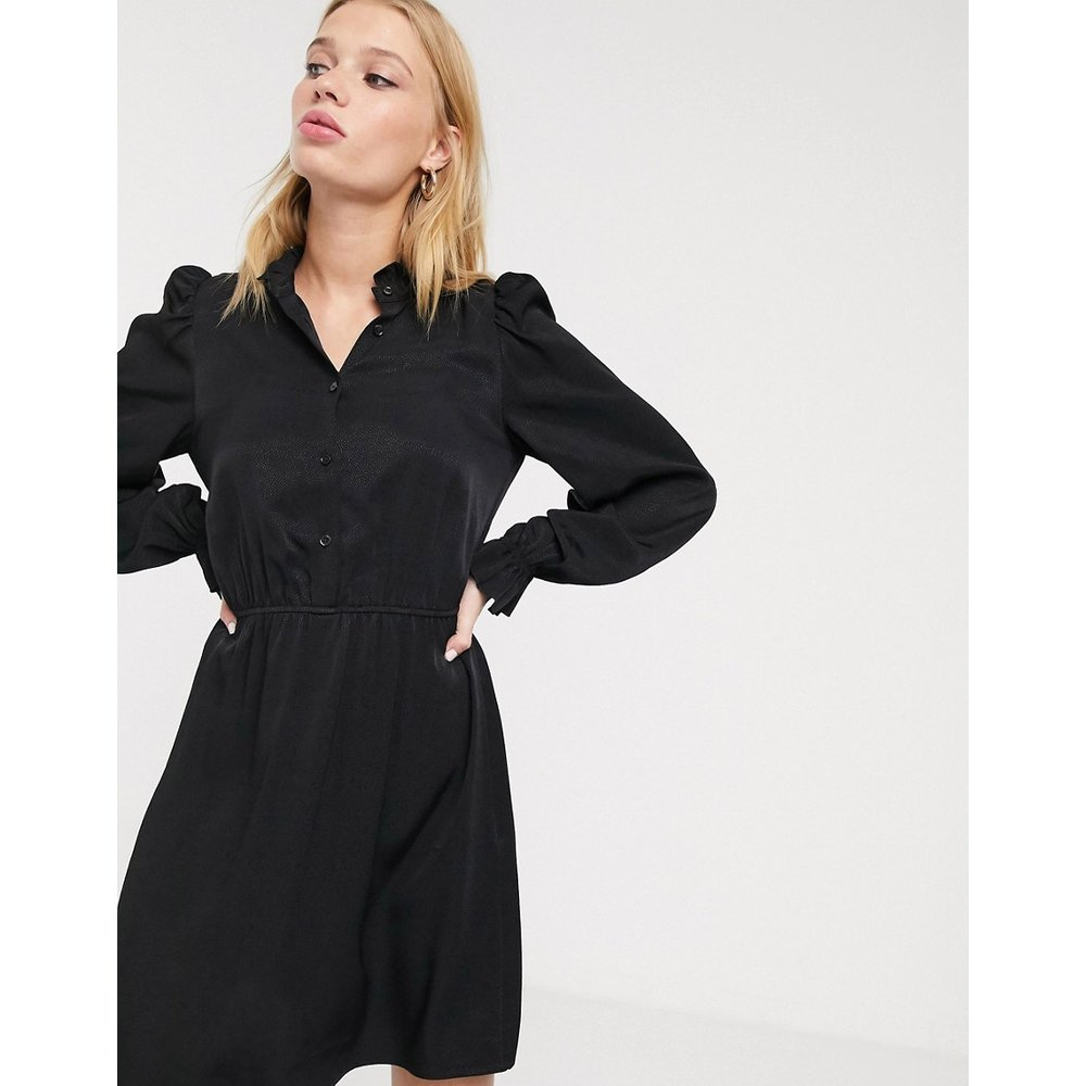 Robe courte avec col claudine - Noir - & Other Stories - Modalova