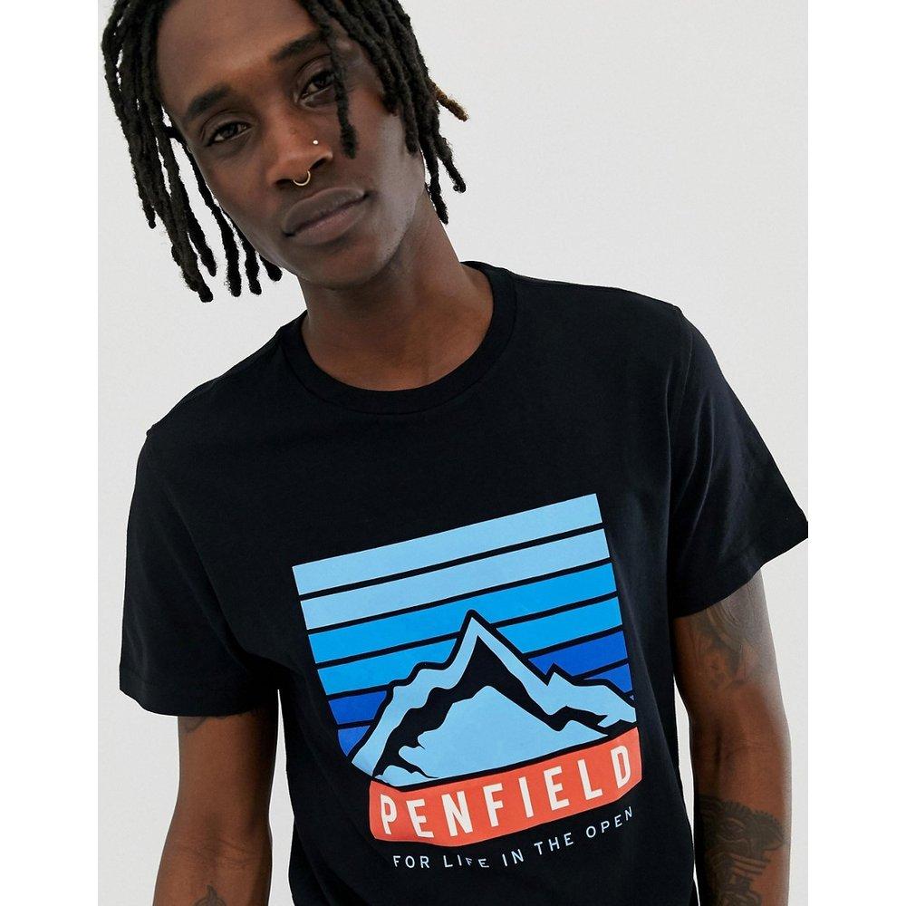 Mountain - T-shirt ras de cou avec logo imprimé sur le devant - Penfield - Modalova