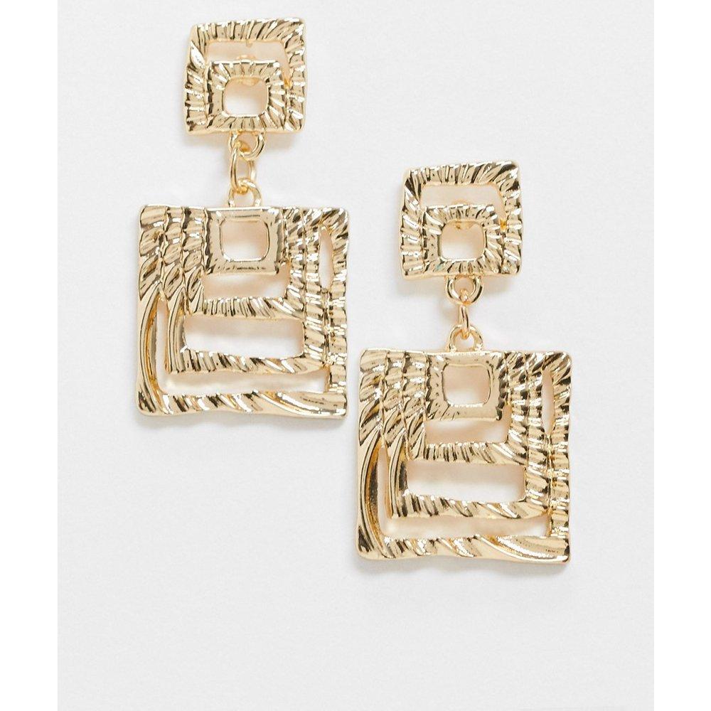Boucles d'oreilles à pendentif carré - Pieces - Modalova