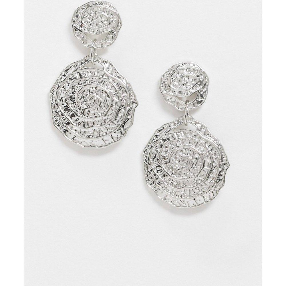 - Boucles d'oreillestexturées àpendants circulaires - Pieces - Modalova