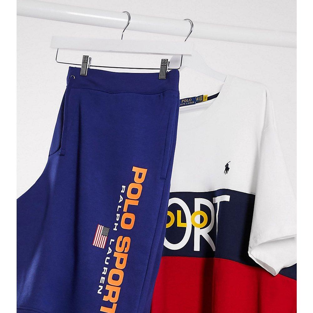 Big & Tall - Short sport en molleton à logo drapeau - Bleu marine - Polo Ralph Lauren - Modalova