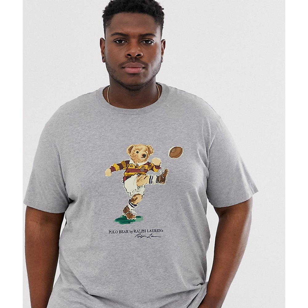Big & Tall - T-shirt de rugby à imprimé ours - chiné - Polo Ralph Lauren - Modalova