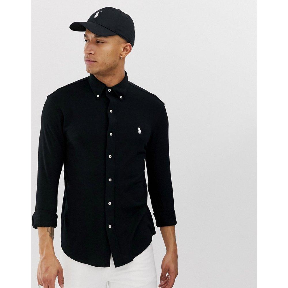 Chemise ajustée en piqué avec col boutonné - Polo Ralph Lauren - Modalova