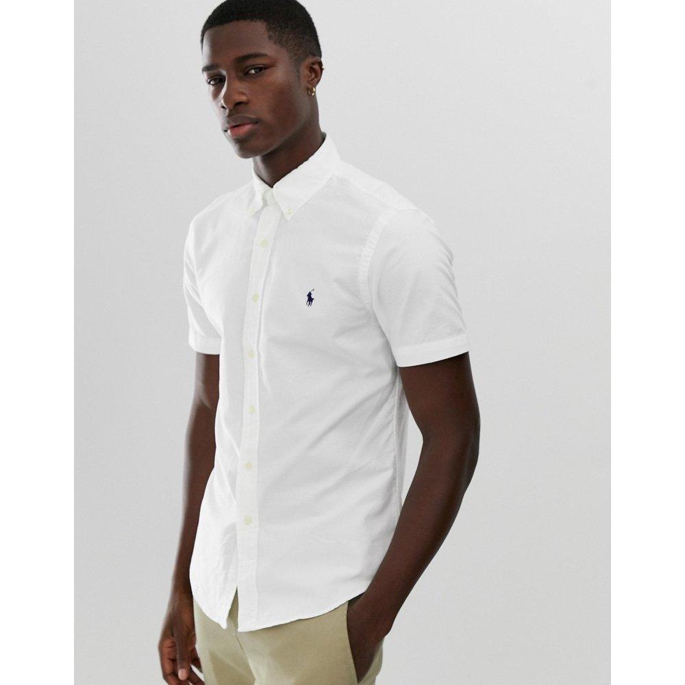 Chemise ajustée teinte sur pièce avec manches courtes et col boutonné - Polo Ralph Lauren - Modalova