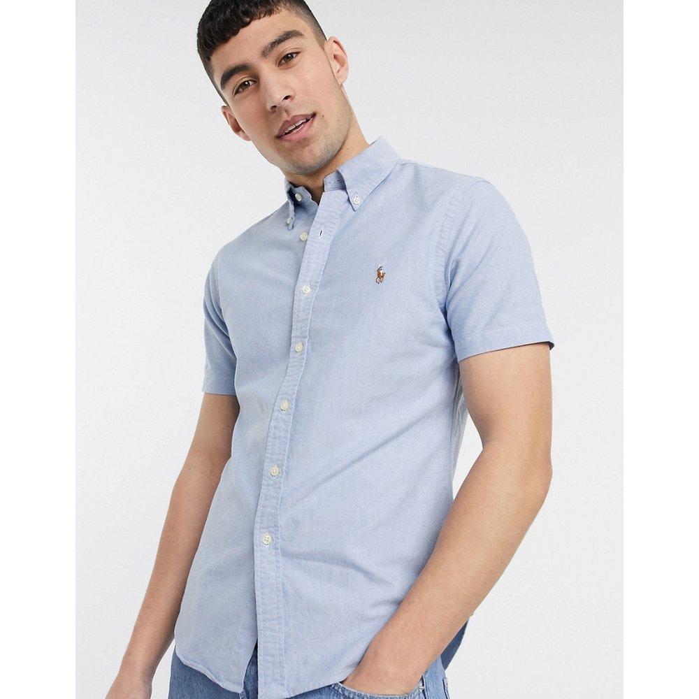 Chemise Oxford coupe slim à manches courtes avec logo joueur de polo multicolore - Polo Ralph Lauren - Modalova