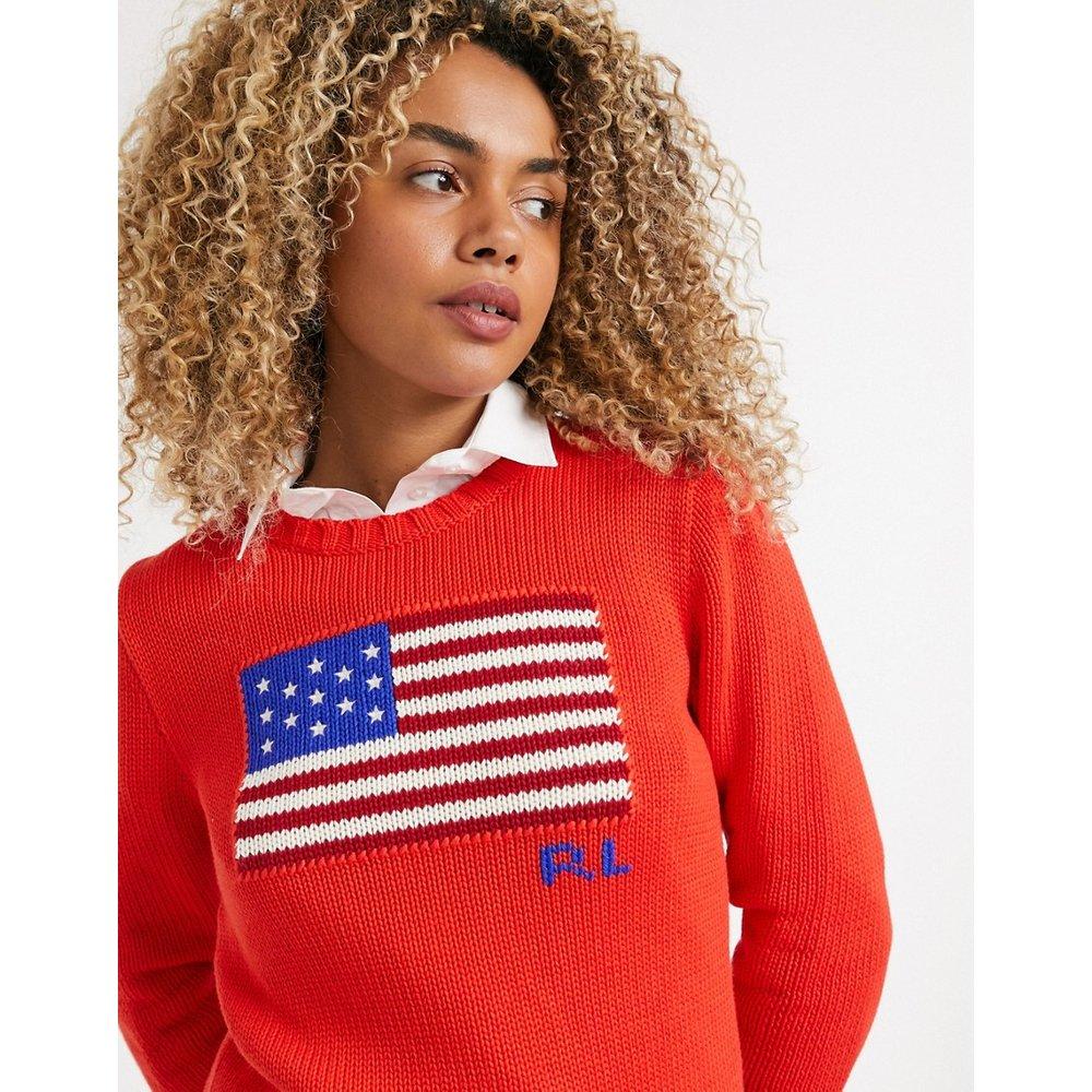 Pull en maille à motif drapeau - Polo Ralph Lauren - Modalova