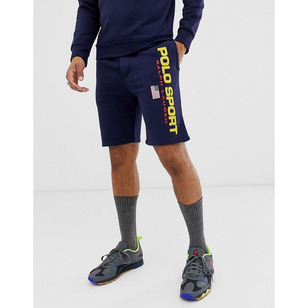 Short de sport en molleton avec logo style rétro - Bleu marine - Polo Ralph Lauren - Modalova