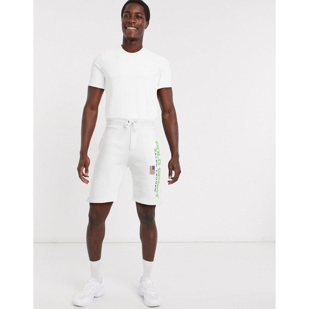 Short en molleton avec logo drapeau sport - Polo Ralph Lauren - Modalova