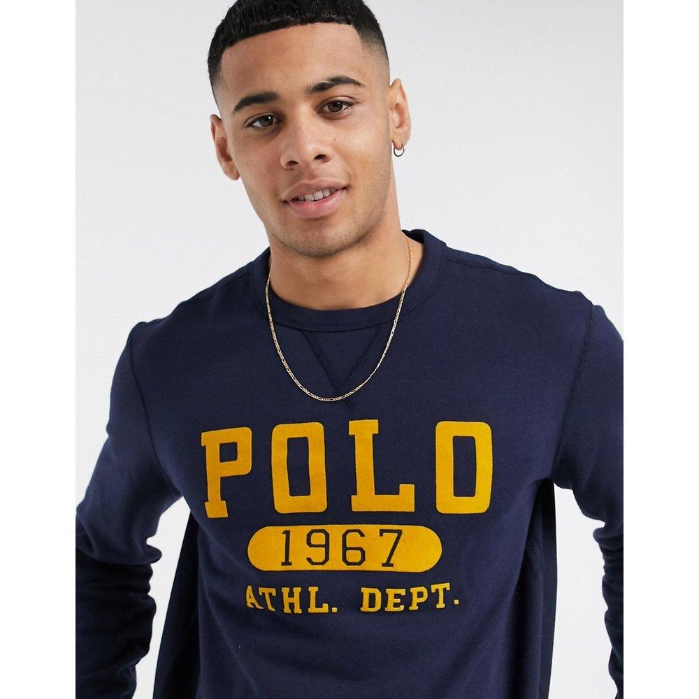 Sweat-shirt à logo vintage floqué - Bleu marine - Polo Ralph Lauren - Modalova