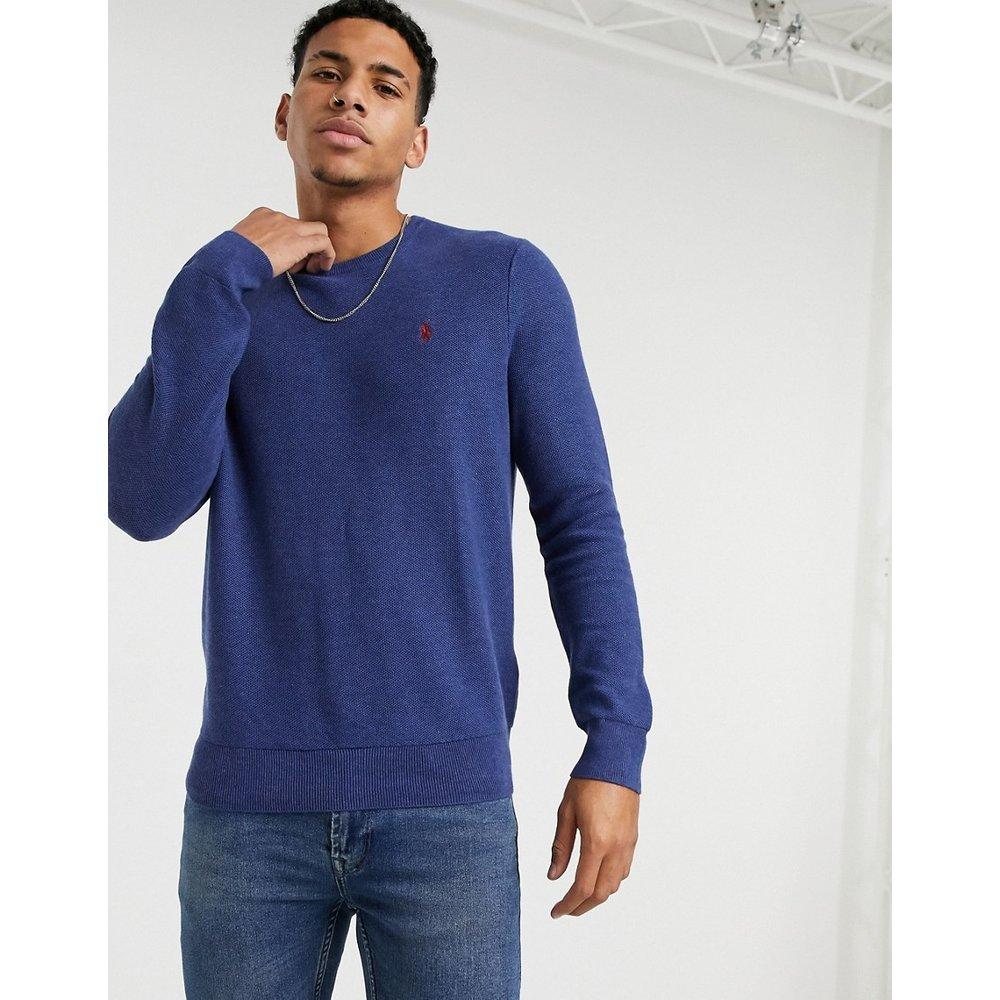 Sweat-shirt en coton pima à logo joueur de polo - Bleu marine - Polo Ralph Lauren - Modalova