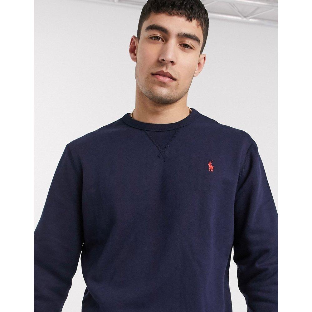 Sweat-shirt ras de cou avec logo joueur de polo - Bleu marine - Polo Ralph Lauren - Modalova