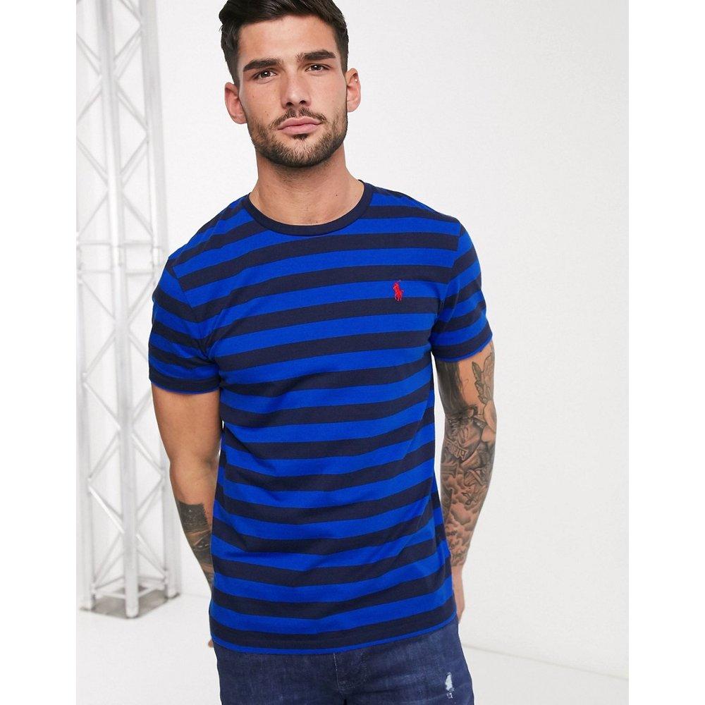 T-shirt à rayures avec logo joueur de polo - /marine - Polo Ralph Lauren - Modalova