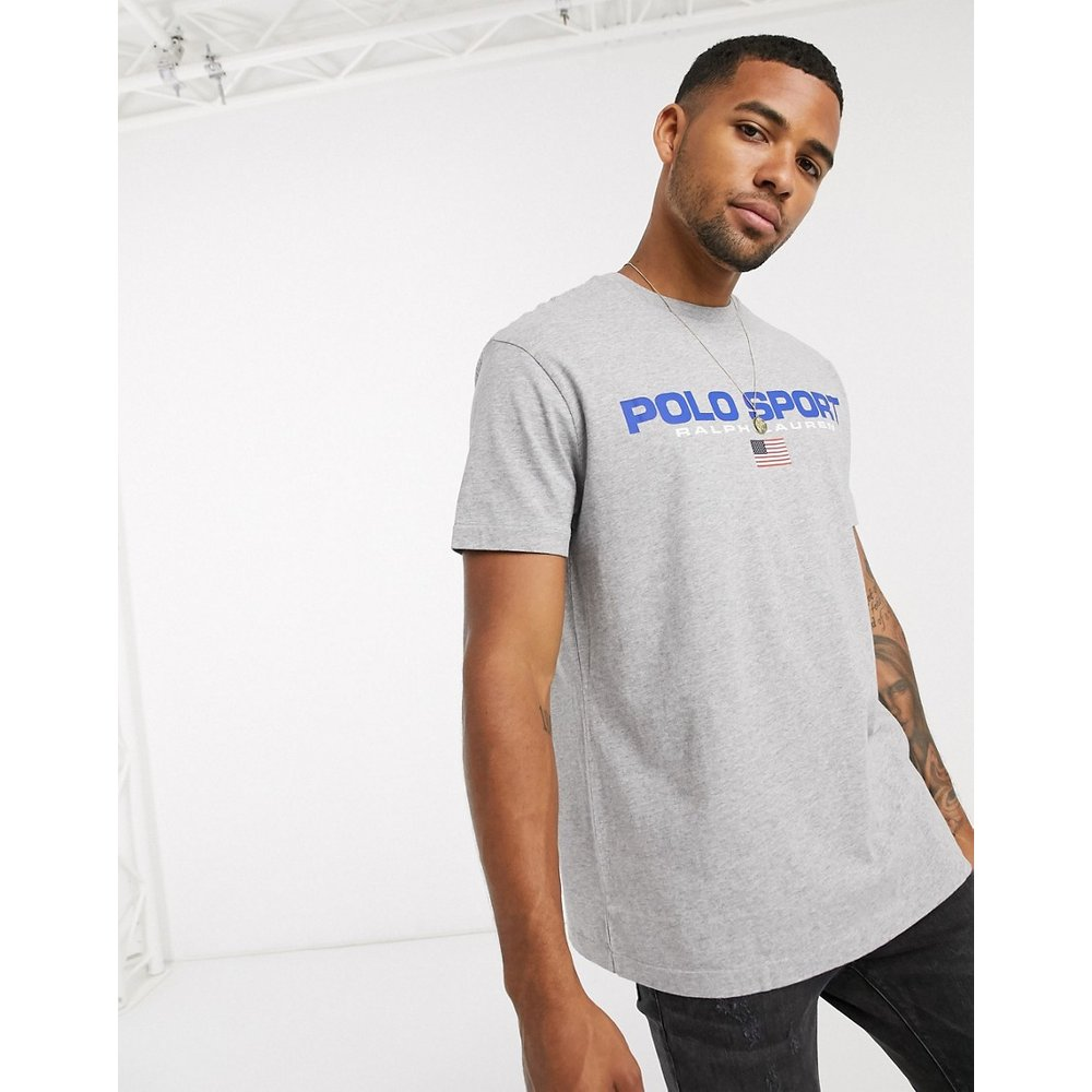 T-shirt coupe classique avec logo drapeau sport - chiné - Polo Ralph Lauren - Modalova