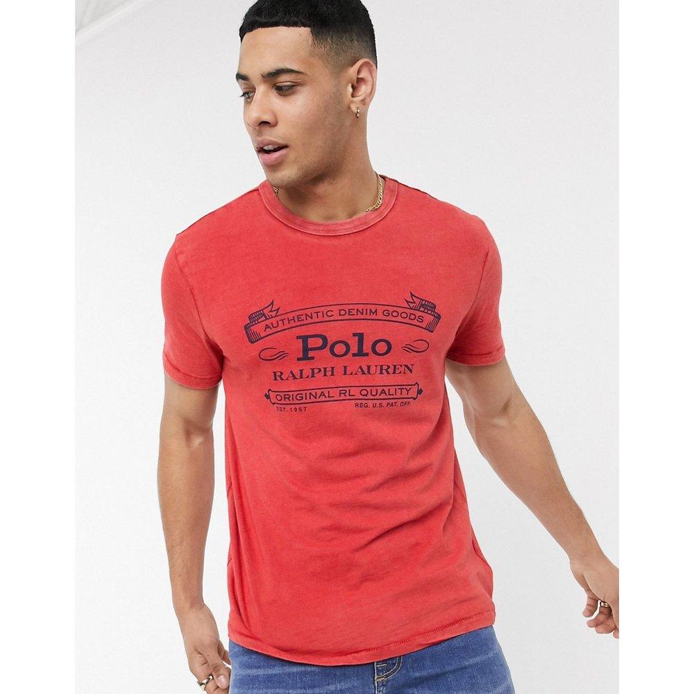 T-shirt rétro à logo en tissu flammé façon denim - Polo Ralph Lauren - Modalova