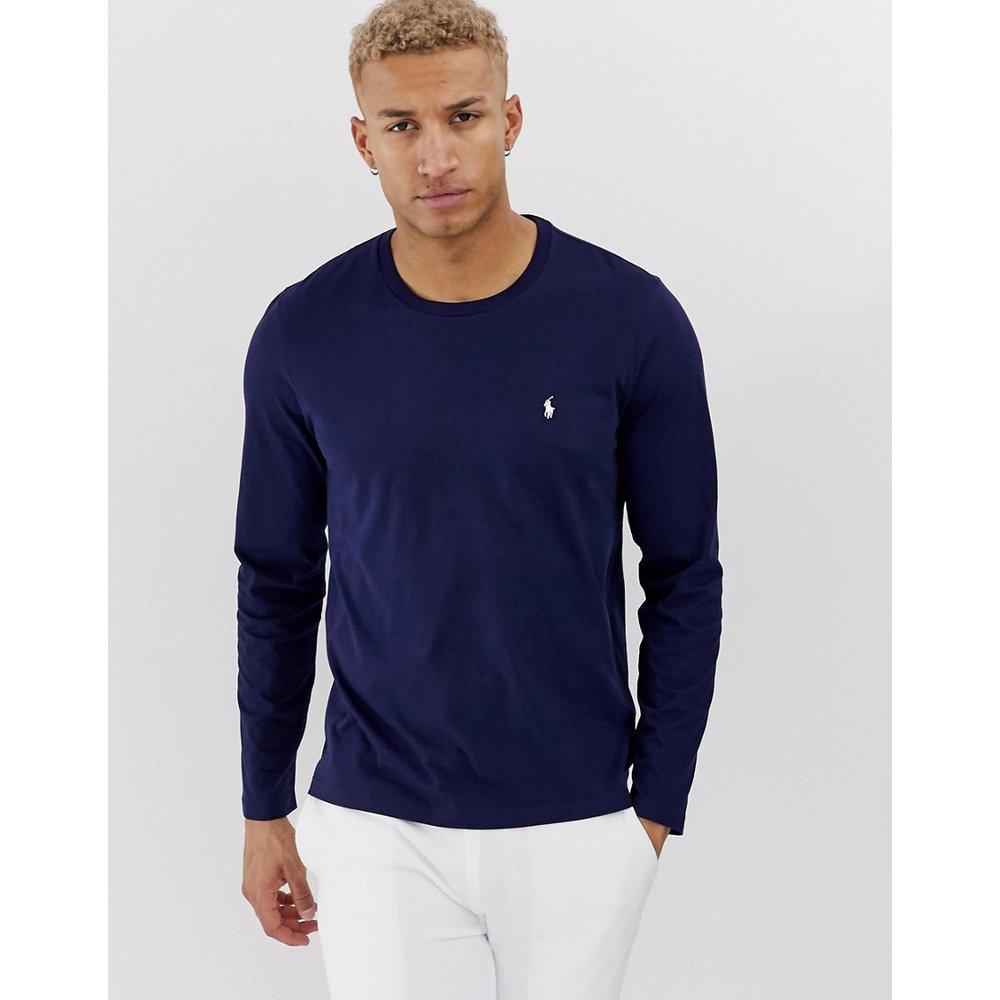 Top à manches longues en coton souple - Bleu marine - Polo Ralph Lauren - Modalova