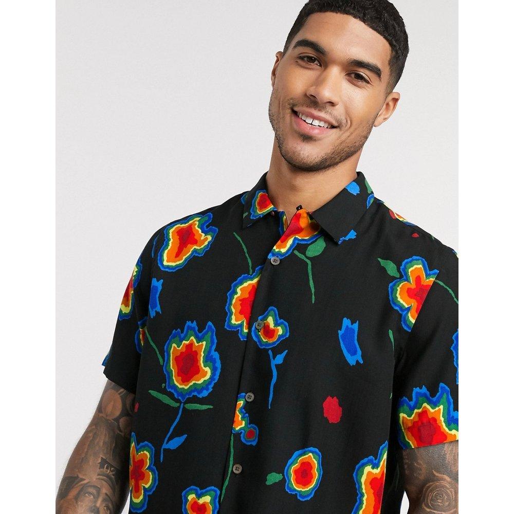 Chemise à manches courtes avec motif floral effet carte thermique - PS Paul Smith - Modalova