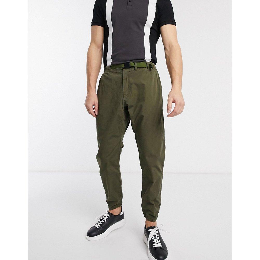 Pantalon resserré aux chevilles en tissu anti-déchirures avec ceinture clip - Kaki - PS Paul Smith - Modalova