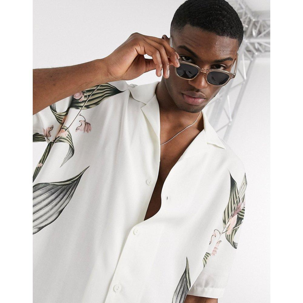 Chemise manches courtes à fleurs - Pull&Bear - Modalova