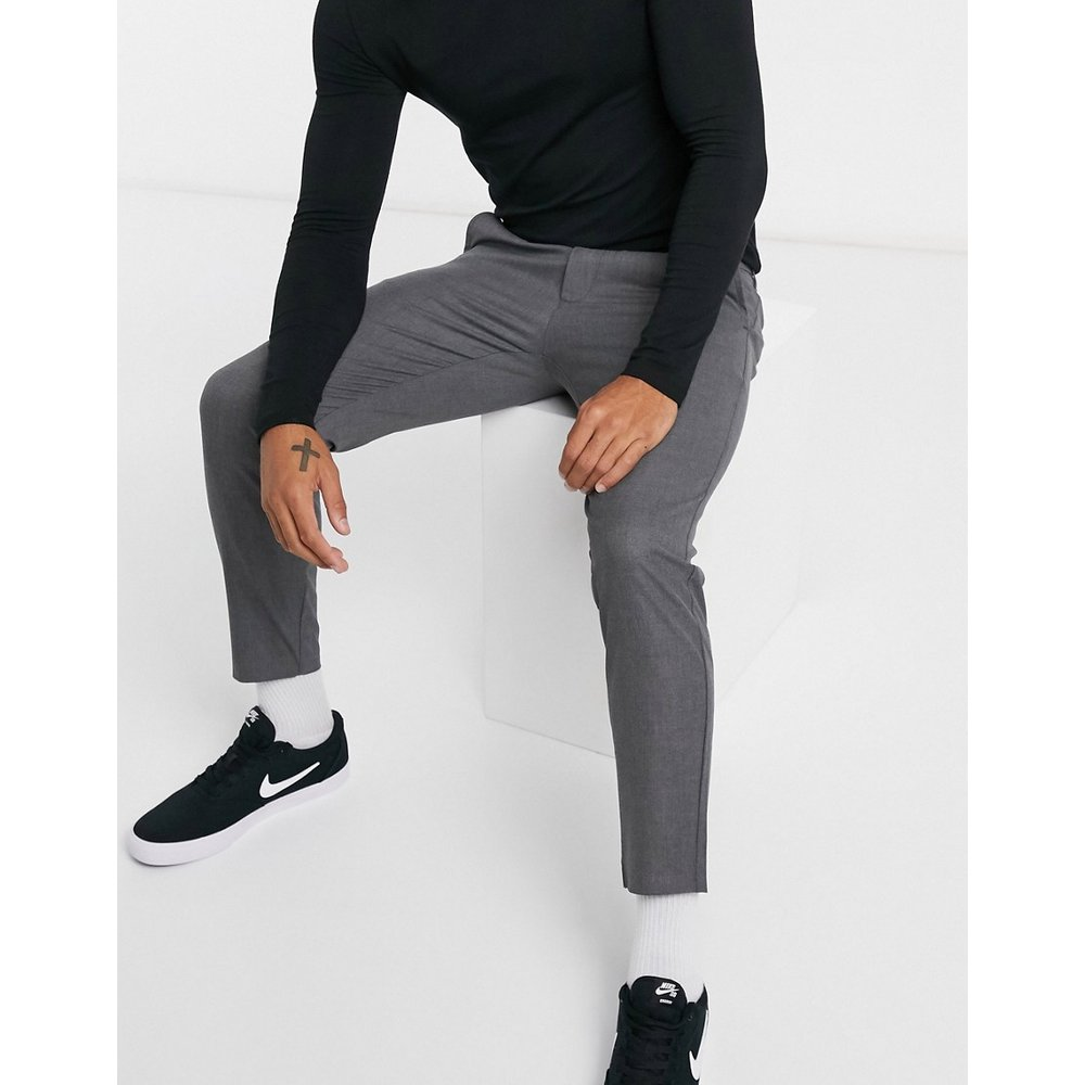 Pull&Bear - Pantalon ajusté - Gris - Pull&Bear - Modalova