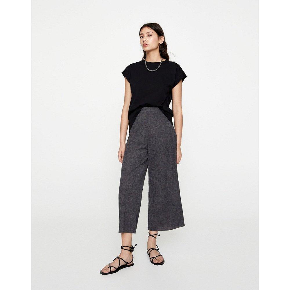 Pantalon ample taille haute - Pull&Bear - Modalova