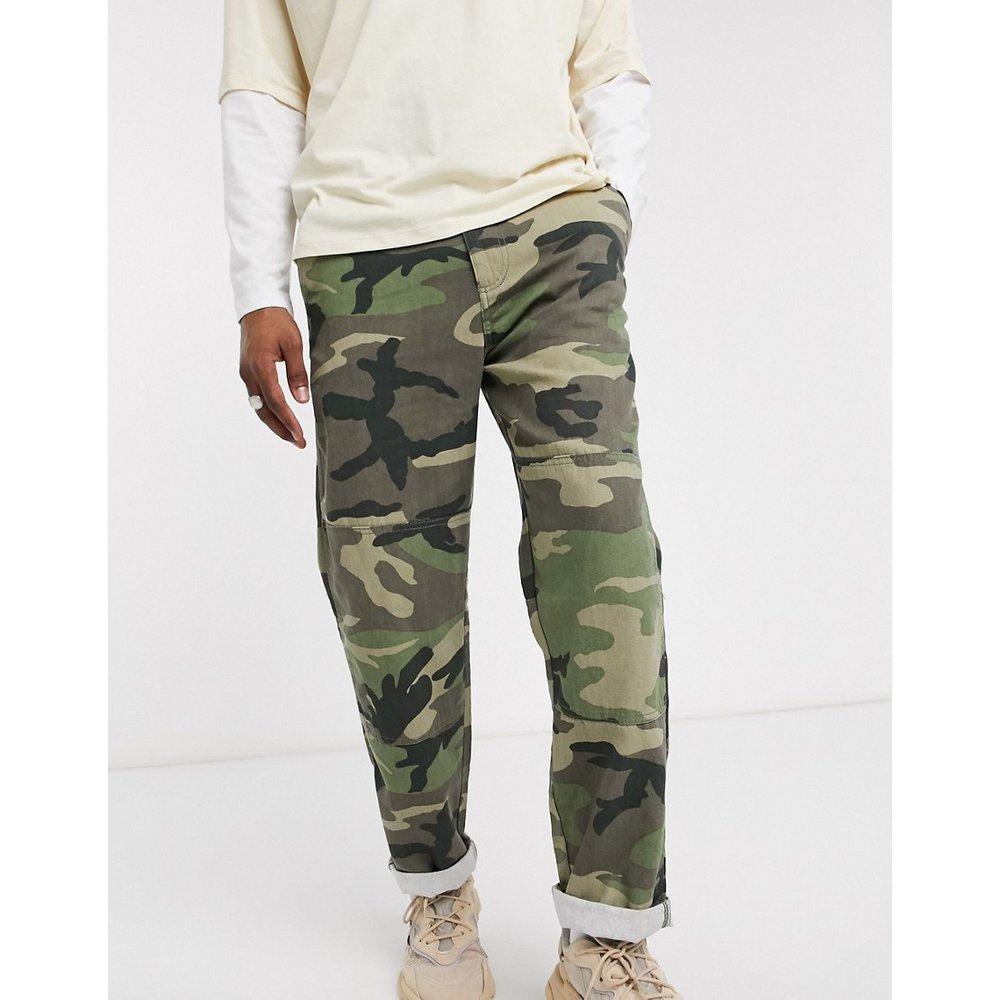 Pantalon cargo d'ensemble en denim motif camouflage - Pull&Bear - Modalova