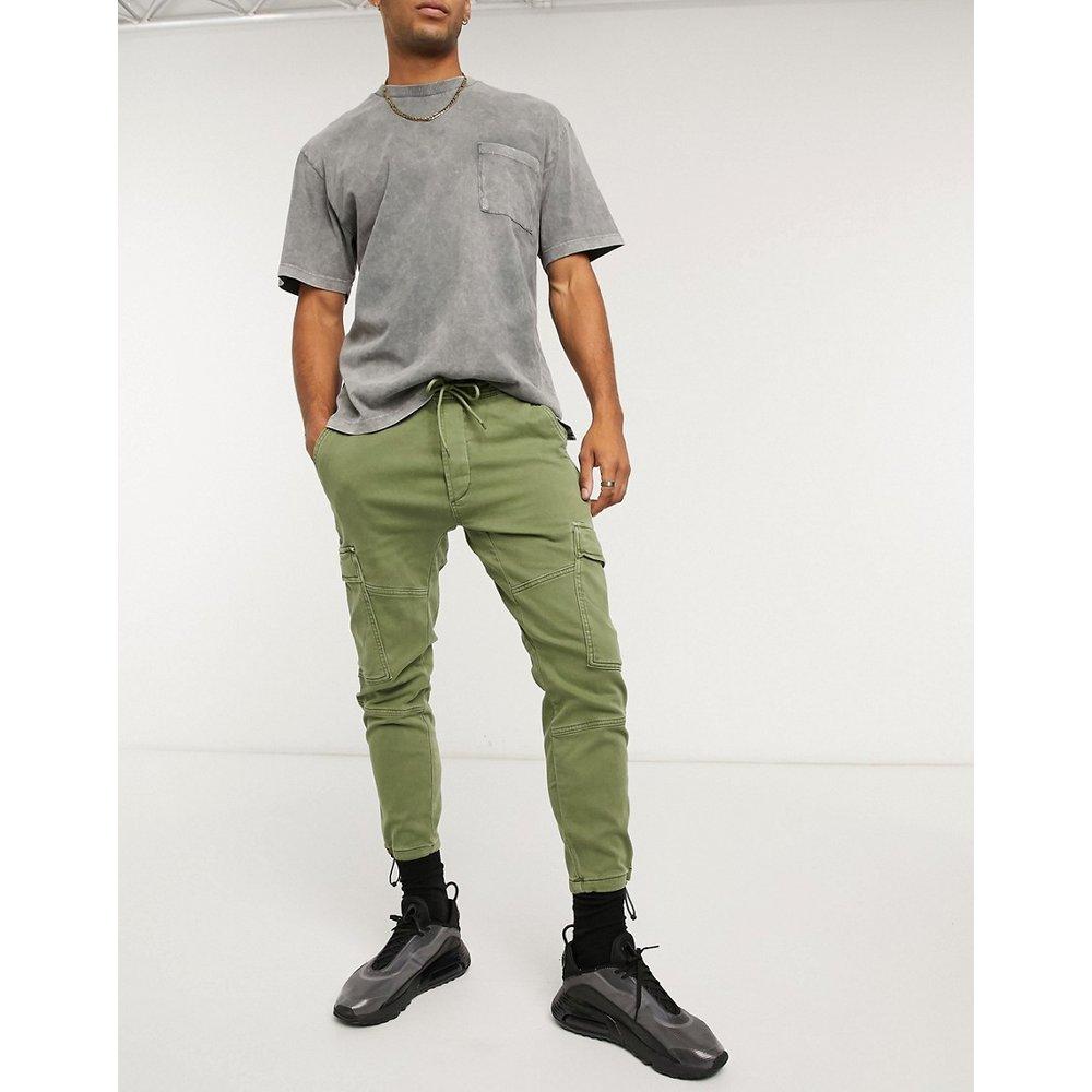 Pantalon cargo teint par pièce - Kaki - Pull&Bear - Modalova