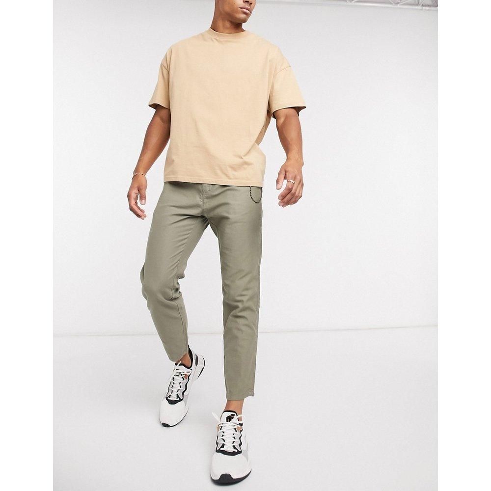 Pantalon chino casual - Kaki - Pull&Bear - Modalova