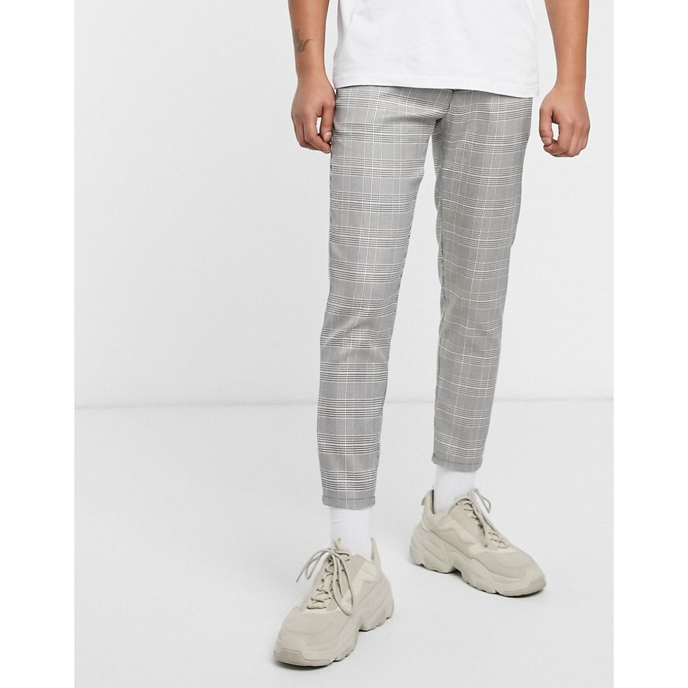 Pantalon coupe skinny - Carreaux - Pull&Bear - Modalova