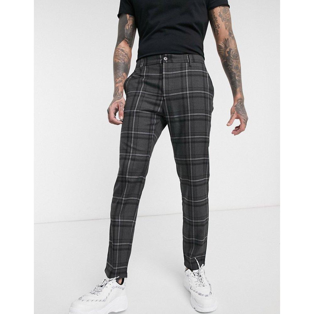 Pantalon coupe slim - Carreaux foncé - Pull&Bear - Modalova
