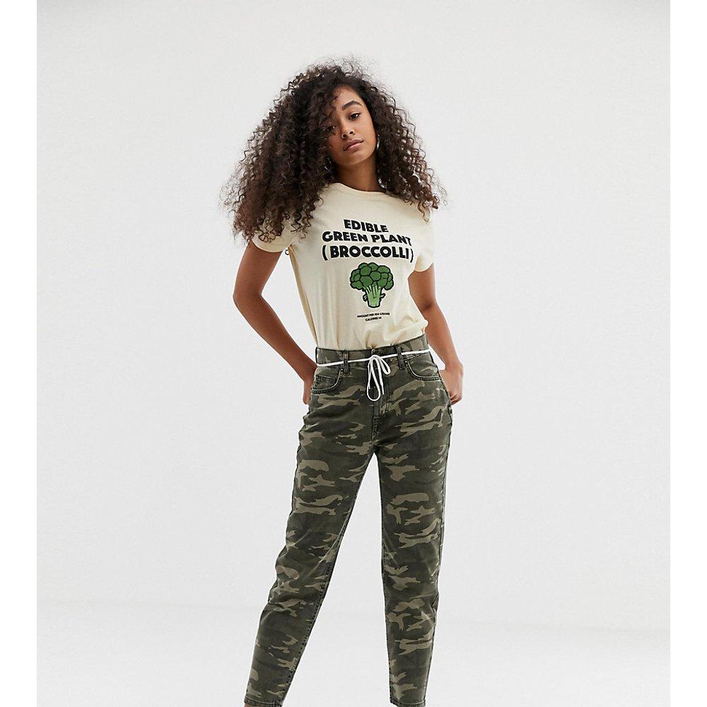 Pantalon taille haute à imprimé camouflage - Pull&Bear - Modalova