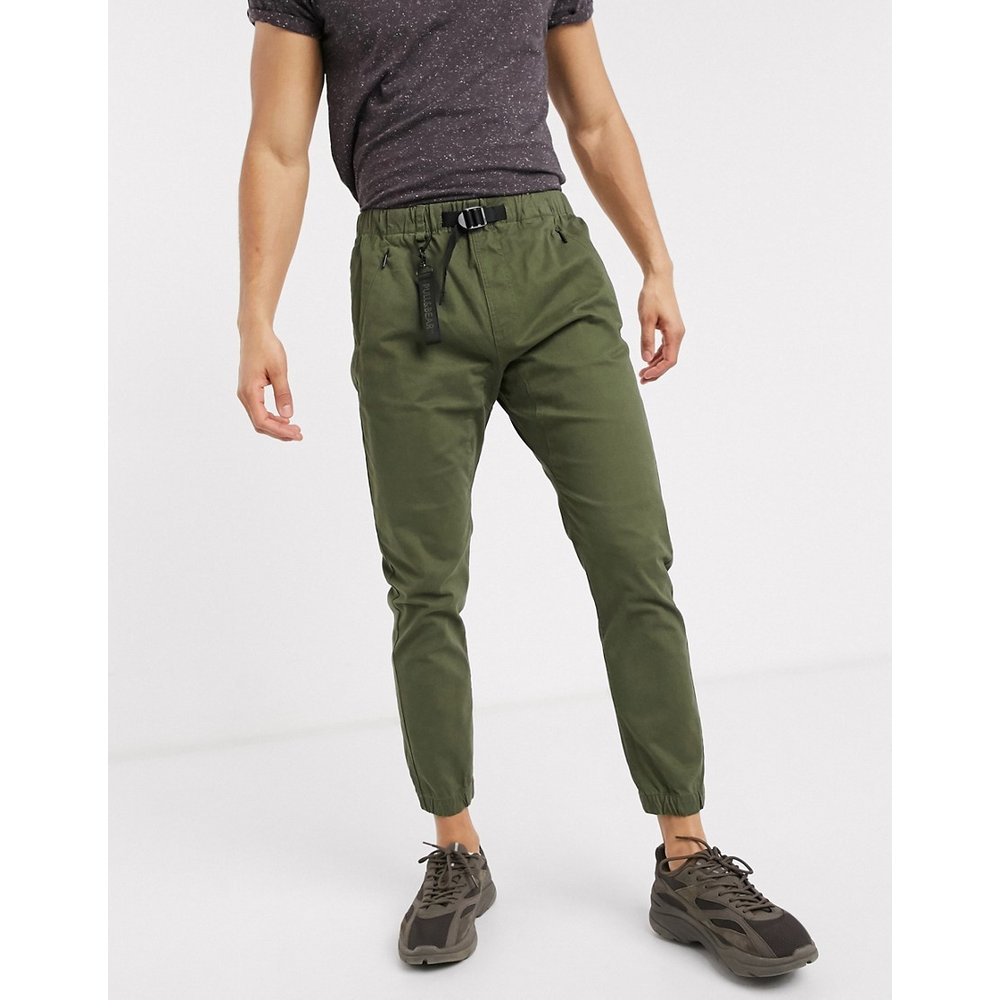 Pull&Bear - Pantalon - Vert kaki - Pull&Bear - Modalova