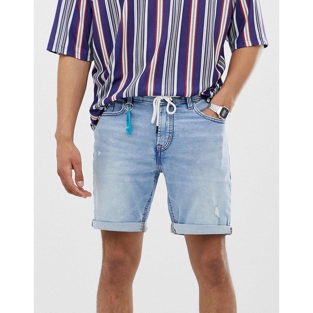 Short en jean ajusté - Indigo - Pull&Bear - Modalova