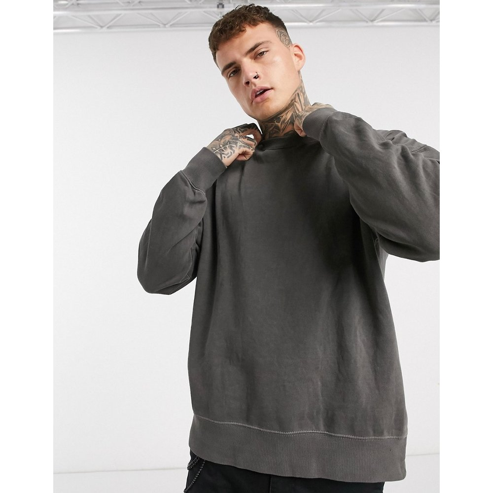 Sweat-shirt - délavé - Pull&Bear - Modalova