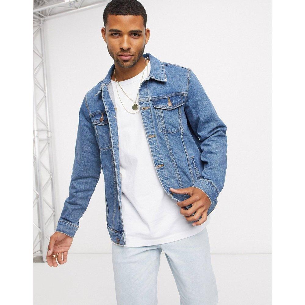 Veste en jean - Bleu - Pull&Bear - Modalova