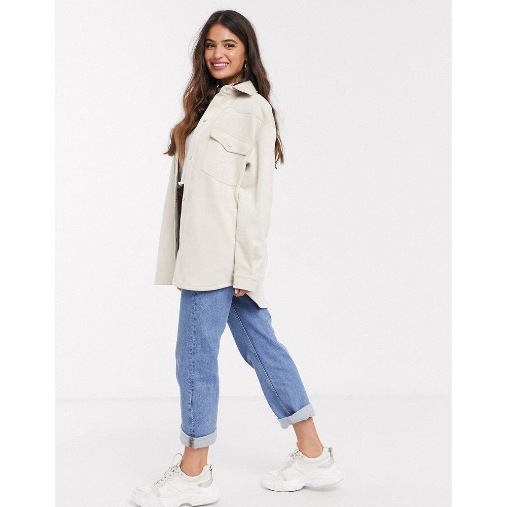 Veste façon chemise en imitation daim - Écru - Pull&Bear - Modalova