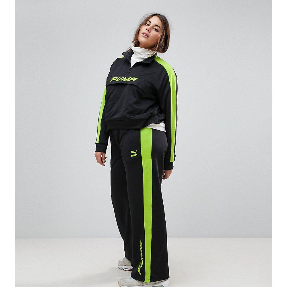 Plus - Pantalon de survêtement exclusivité ASOS - et vert citron - Puma - Modalova