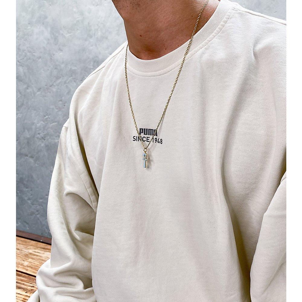 Sweat-shirt oversize avec logo - Taupe délavé - Exclusivité ASOS - Puma - Modalova