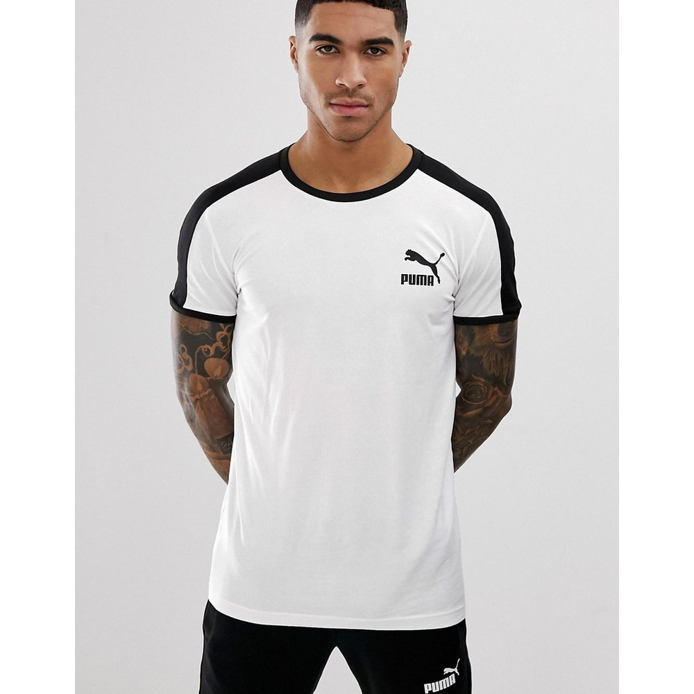 Puma - T7 - T-shirt moulant - Blanc - Puma - Modalova