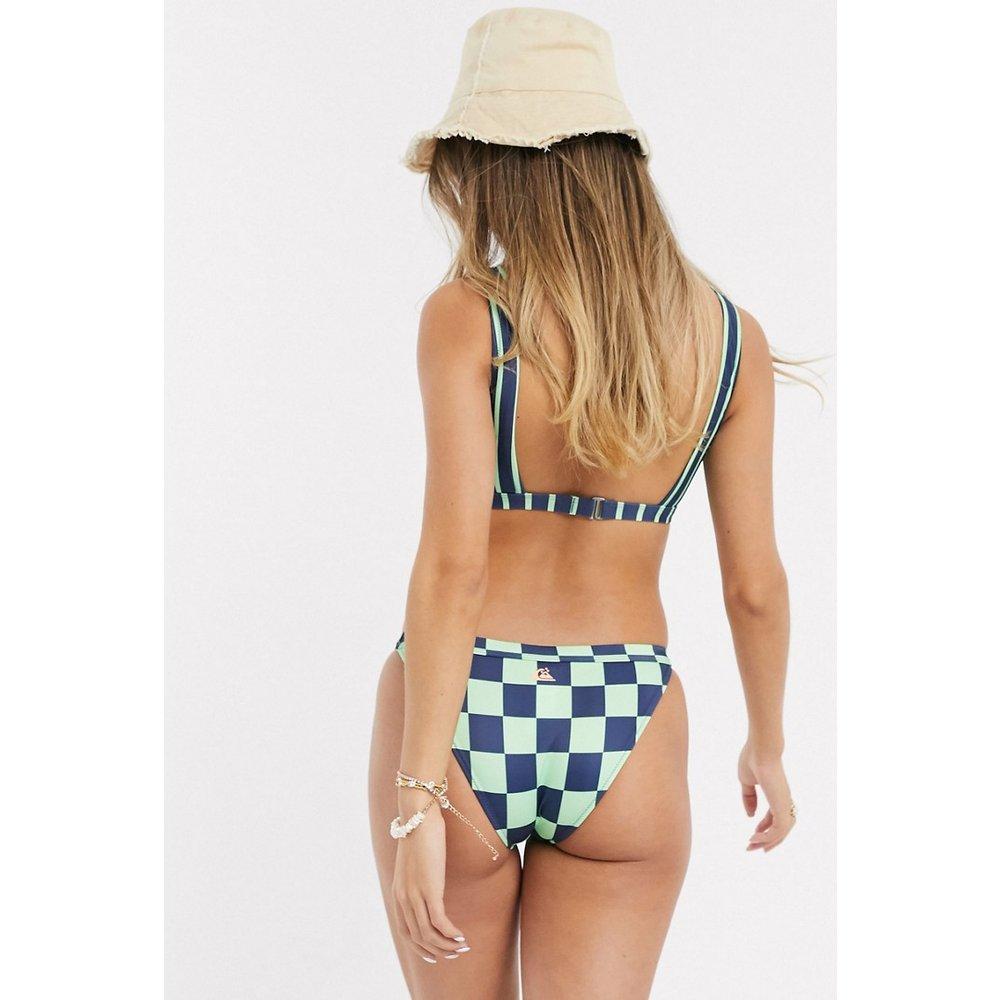 Bas de bikini à logo motif damier - Quiksilver - Modalova