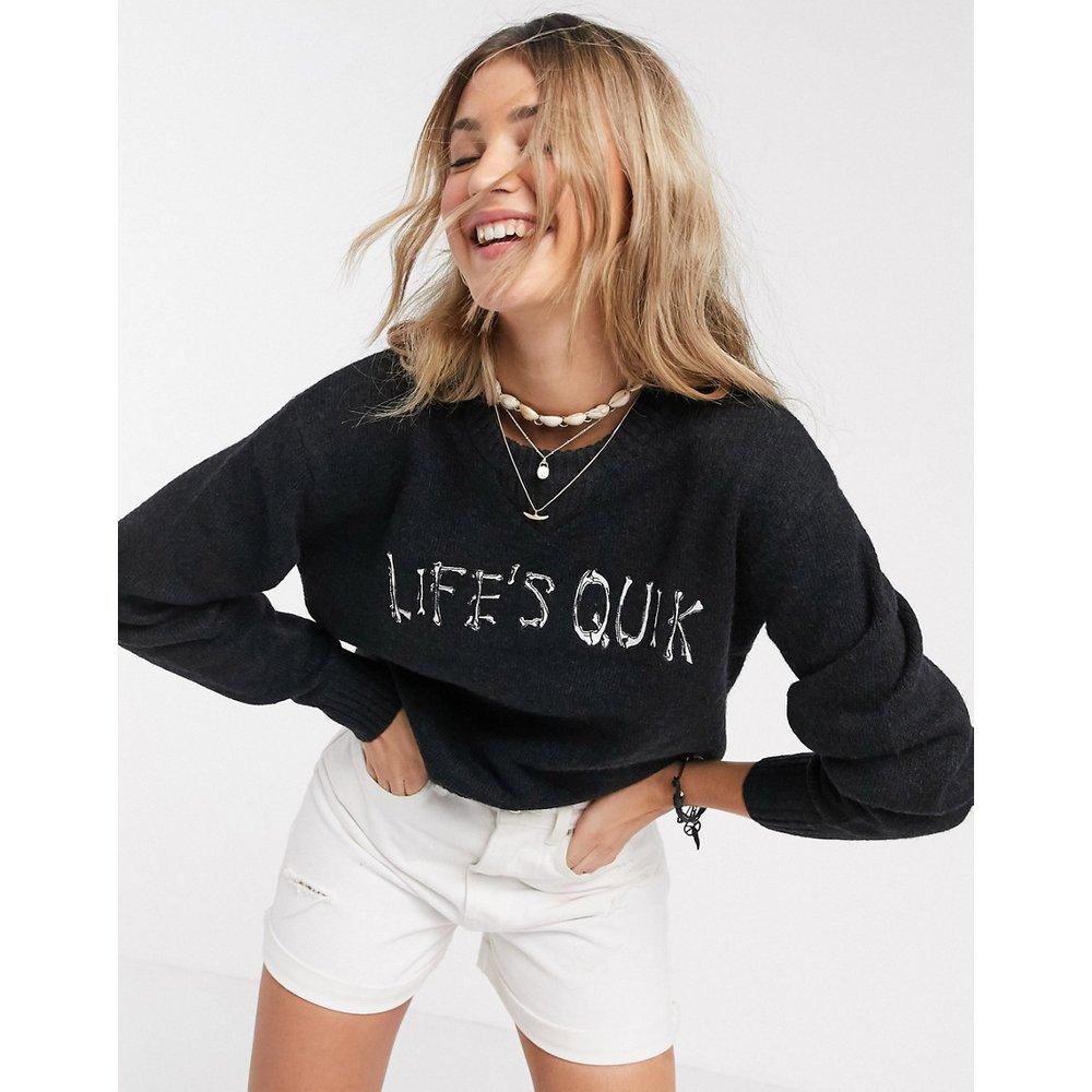 Life's Quik - Pull avec inscription - Quiksilver - Modalova