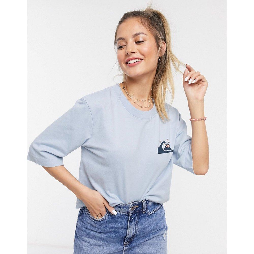 T-shirt crop top à manches mi-longues - Bleu - Quiksilver - Modalova
