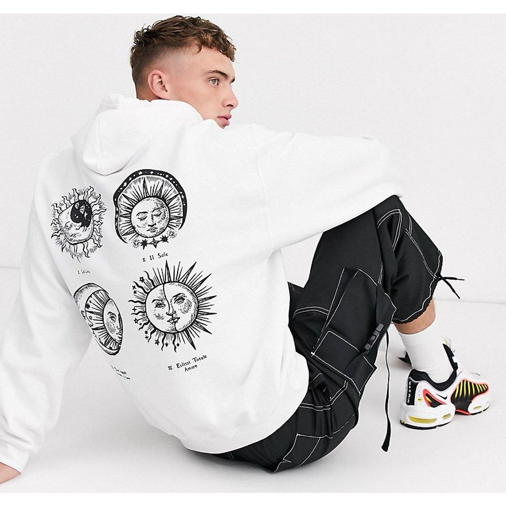 Hoodie avec imprimé lune et soleil dans le dos - Reclaimed Vintage - Modalova
