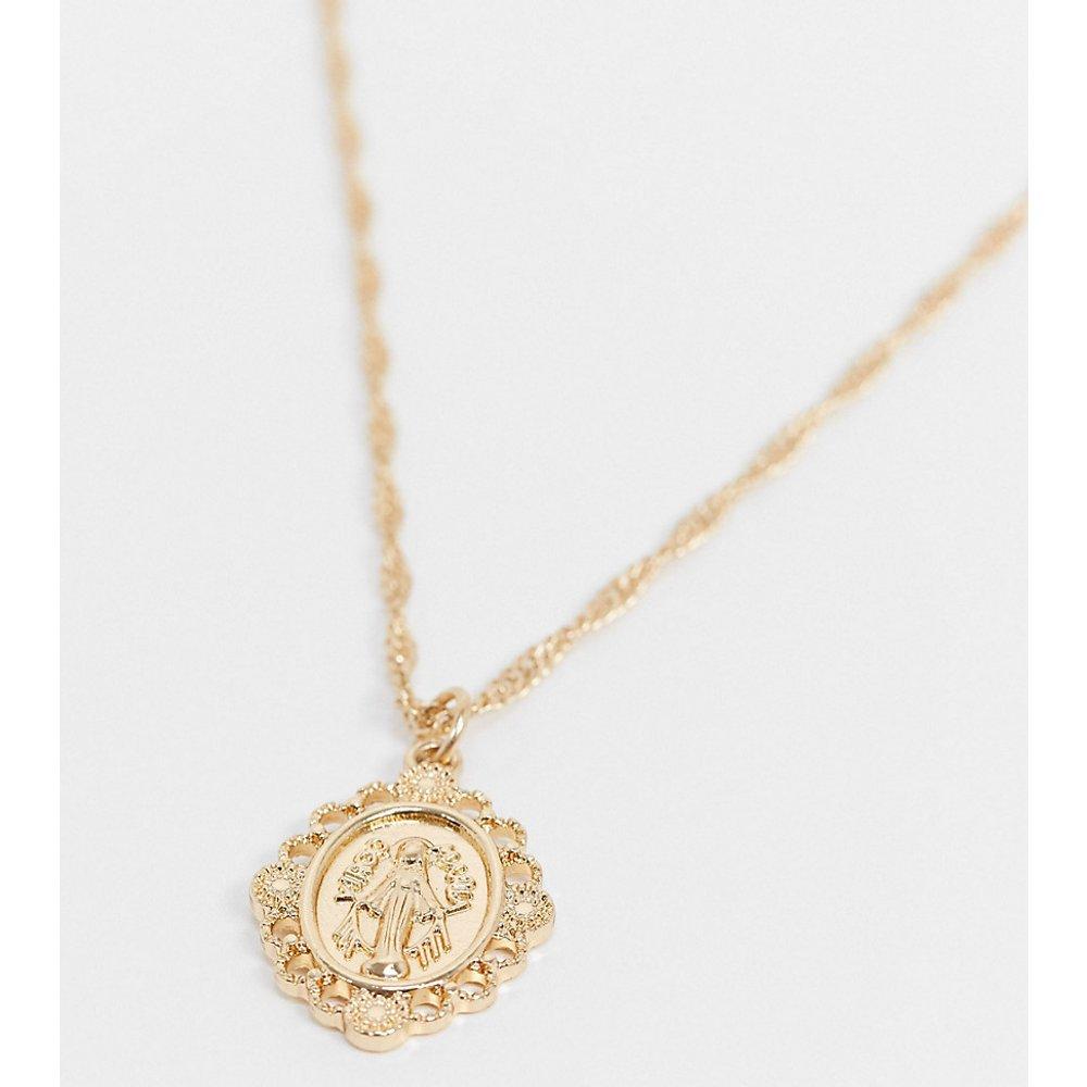Inspired - Collier avec pendentif Saint Christophe - Or - Reclaimed Vintage - Modalova