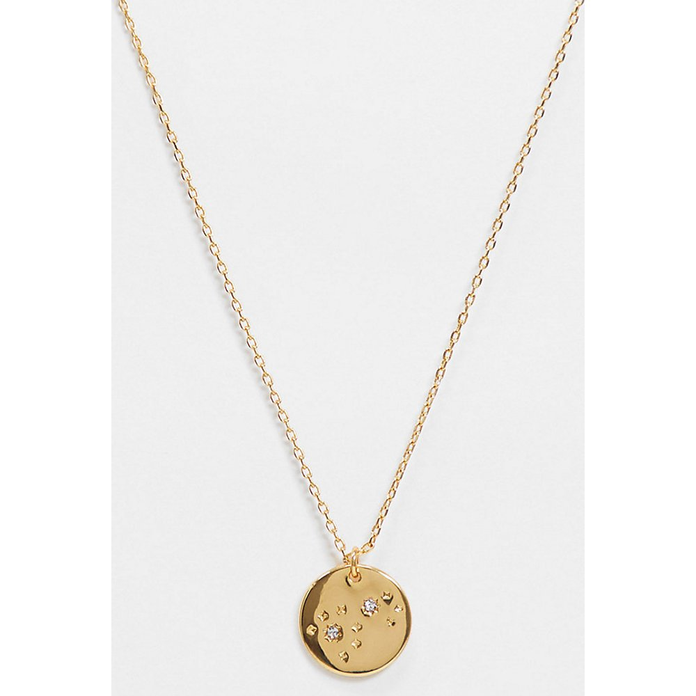 Inspired - Collier de qualité supérieure avec pendentif pièce de monnaie et constellation 14 carats - Reclaimed Vintage - Modalova