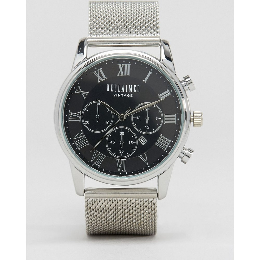 Inspired - Montre chronographe avec bracelet en maille - - Exclusivité ASOS - Reclaimed Vintage - Modalova